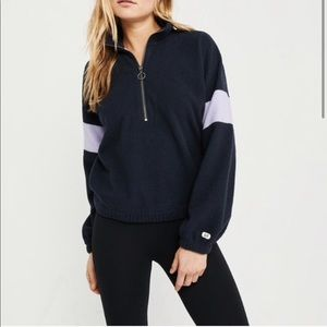 Abercrombie & Fitch color block Sherpa